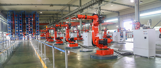 机器人生产车间一角